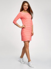 Платье трикотажное базовое oodji для женщины (красный), 14001071-2B/46148/4310S - вид 6