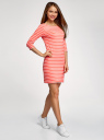 Платье трикотажное базовое oodji #SECTION_NAME# (красный), 14001071-2B/46148/4310S - вид 6