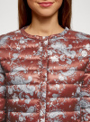 Куртка стеганая с круглым вырезом oodji для женщины (красный), 10204040-1B/42257/4920E - вид 4