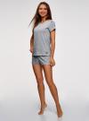 Пижама хлопковая с принтом oodji для женщины (серый), 56002201-6/46154/2000Z - вид 6