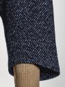 Жакет укороченный свободного силуэта oodji #SECTION_NAME# (синий), 11200999-1/46968/7974M - вид 5