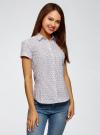 Рубашка хлопковая с коротким рукавом oodji #SECTION_NAME# (белый), 13K01004-3B/48461/1041G - вид 2