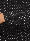 Блузка с декоративными завязками и оборками на воротнике oodji #SECTION_NAME# (черный), 11411091-3/48458/2912D - вид 5