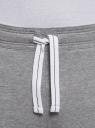 Брюки трикотажные базовые oodji #SECTION_NAME# (серый), 5B230001M/48944N/2301M - вид 4