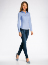 Рубашка базовая с нагрудными карманами oodji #SECTION_NAME# (синий), 11403222B/42468/7000N - вид 6