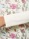 Джемпер комбинированный с круглым вырезом oodji для женщины (слоновая кость), 63812625/46185/1241F