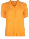 Блузка вискозная с рукавом-трансформером 3/4 oodji #SECTION_NAME# (оранжевый), 11403189-2B/26346/5500N - вид 6