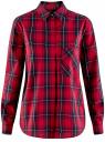 Рубашка в клетку хлопковая oodji для женщины (красный), 11411099-3/43566/4579C