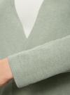 Кардиган вязаный без застежки oodji для женщины (зеленый), 63212577/46629/6000N - вид 5