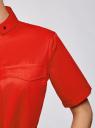 Платье-рубашка с карманами oodji #SECTION_NAME# (красный), 11909002/33113/4500N - вид 5