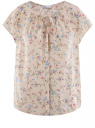 Блузка свободного силуэта с бантом oodji #SECTION_NAME# (розовый), 11411154-1B/24681/5475F
