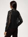 Блузка приталенная кружевная oodji для женщины (черный), 11401283/49628/2900L