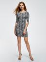 Платье трикотажное облегающее oodji #SECTION_NAME# (серый), 14001121-3B/16300/1029L - вид 2