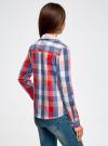 Блузка клетчатая прямого силуэта oodji для женщины (разноцветный), 11411131/46090/4574C - вид 3