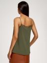 Топ в бельевом стиле с кружевной отделкой oodji для женщины (зеленый), 14911004-2B/17358/6801N
