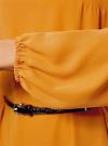 Платье из шифона с ремнем oodji для женщины (желтый), 11900150-5B/32823/5200N - вид 5