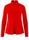 Блузка хлопковая с баской oodji #SECTION_NAME# (красный), 13K00001-1B/42083/4500N