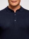 Поло вязаное с коротким рукавом oodji для мужчины (синий), 4B512002M/39795N/7900N
