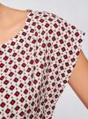 Блузка принтованная из вискозы oodji #SECTION_NAME# (белый), 11400345-2/24681/1249G - вид 5
