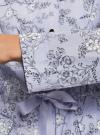 Куртка удлиненная на кулиске oodji для женщины (синий), 11D03006/24058/7012F - вид 5