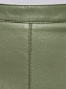 Юбка-трапеция из искусственной кожи oodji для женщины (зеленый), 18H00008-1B/45164/6800N