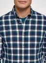 Рубашка хлопковая с длинным рукавом oodji #SECTION_NAME# (синий), 3L310197M/50176N/7962C - вид 4