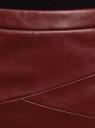 Юбка-карандаш из искусственной кожи oodji для женщины (красный), 18H01002/45059/4903N