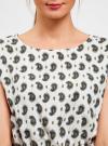 Платье вискозное с поясом oodji #SECTION_NAME# (слоновая кость), 11910073-1/26346/1275E - вид 4