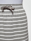 Юбка трикотажная на завязках oodji #SECTION_NAME# (серый), 14101103/47420/2310S - вид 4
