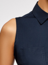 Платье хлопковое на кулиске oodji для женщины (синий), 11901147-5B/42468/7900N