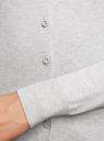 Жакет базовый из вискозы oodji для женщины (серый), 73212276-7B/38428/2000M