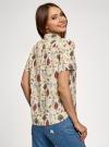 Блузка вискозная с короткими рукавами oodji #SECTION_NAME# (слоновая кость), 11411137B/14897/3031Q - вид 3