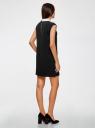 Платье без рукавов с воротничком oodji #SECTION_NAME# (черный), 11911006/42354/2900N - вид 3