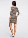 Платье трикотажное базовое oodji #SECTION_NAME# (зеленый), 14001071-2B/46148/6855S - вид 3