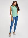 Рубашка базовая без рукавов oodji #SECTION_NAME# (зеленый), 11405063-4B/45510/6500N - вид 6