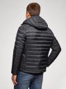 Куртка стеганая с капюшоном oodji #SECTION_NAME# (синий), 1B112009M/25278N/7900N - вид 3
