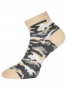 Комплект из трех пар укороченных носков oodji для женщины (разноцветный), 57102418T3/47469/22