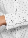 Рубашка базовая из хлопка oodji #SECTION_NAME# (белый), 13K03007B/26357/1029O - вид 5