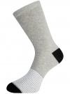 Комплект высоких носков (3 пары) oodji #SECTION_NAME# (разноцветный), 57102902T3/47469/21 - вид 3