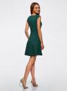 Платье из плотной ткани с овальным вырезом oodji #SECTION_NAME# (зеленый), 11907004-2/31291/6900N - вид 3