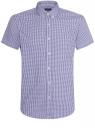 Рубашка клетчатая с коротким рукавом oodji #SECTION_NAME# (синий), 3L210030M/44192N/1079C