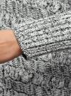 Кардиган ажурный без застежки oodji для женщины (белый), 73207202-1/31347/1229M - вид 5