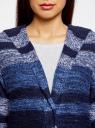 Кардиган полосатый с капюшоном oodji для женщины (синий), 63205244/46133/7579S