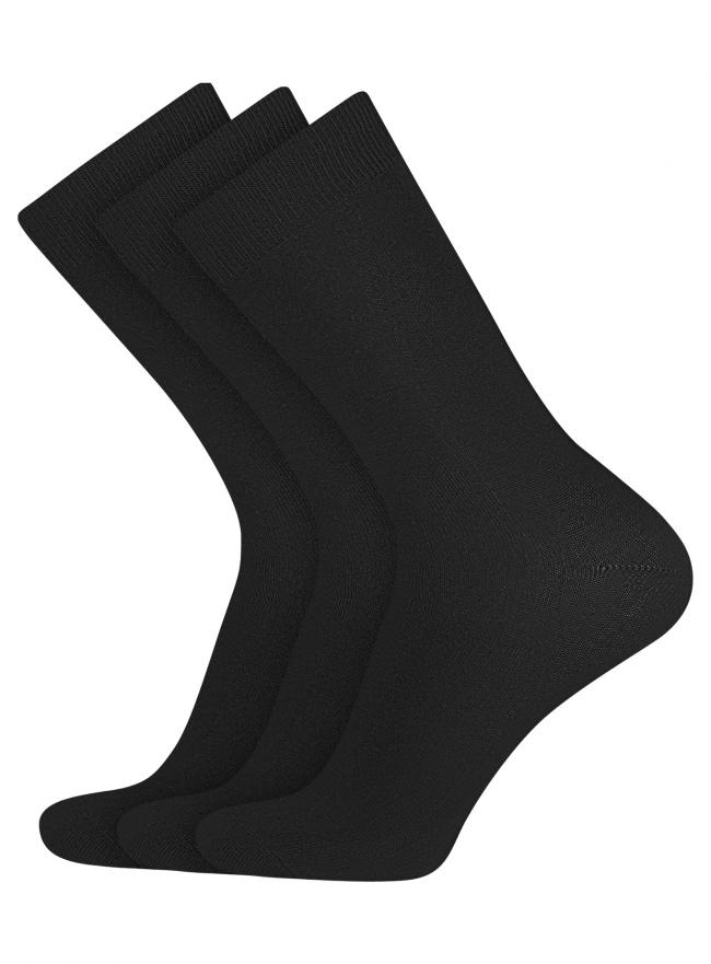 Комплект высоких носков (3 пары) oodji для мужчины (черный), 7B233001T3/47469/2900N