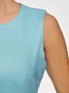 Платье льняное без рукавов oodji #SECTION_NAME# (синий), 12C00002-1B/16009/7000N - вид 5