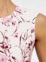 Платье принтованное из плотной ткани oodji для женщины (серый), 11913024/45559/2019F