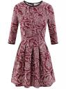 Платье трикотажное со складками на юбке oodji для женщины (красный), 14001148-1/33735/4912E