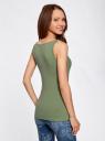 Майка базовая oodji для женщины (зеленый), 24315001B/46147/6200N