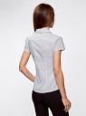 Блузка принтованная из легкой ткани oodji #SECTION_NAME# (белый), 21407022-9/12836/1029D - вид 3