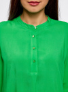 Блузка вискозная А-образного силуэта oodji #SECTION_NAME# (зеленый), 21411113B/26346/6A00N - вид 4